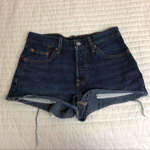 Levi's dark wash shorts